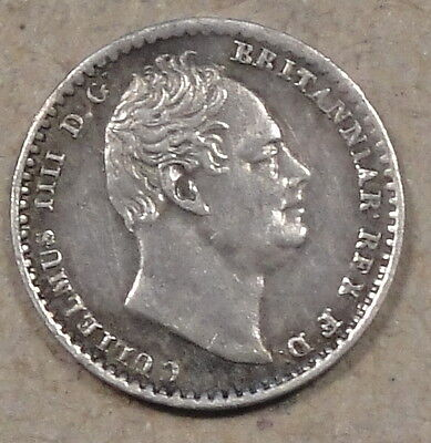 Great Britain 1832 Silver Maundy Penny Better Circulated Grade