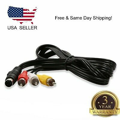 4 Pin S Video To 3 RCA TV Male Cable Lead For Laptop PC Audio Computer