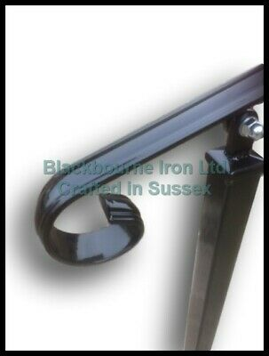 Wrought Iron Style Decorative Handrail on Two Side Bolt Posts - Adjustable