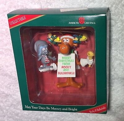 American Greetings Mint in Box Rocky and Bullwinkle Christmas Ornament
