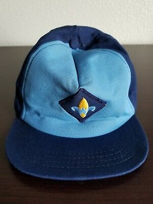 Vintage Webelos Cub Scout Official Blue Hat with Snap Back Made In USA Size S/M