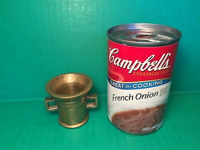 Vintage Heavy Brass MORTAR ONLY NO Pestle From Denmark 2 INCHES TALL TINY 1 PC