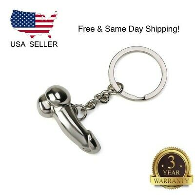 Funny Creative Men Metal Car Key Chain Ring Keyring Keychain Keyfob DIY Gift