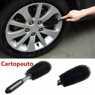 Black Style Car Wheel Tire Rim Scrub Brush Washing Cleaner Vehicle Cleaning Tool