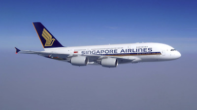 16cm 1:450 Singapore Airline A380 Airplane Aeroplane Diecast Plane Toy Model