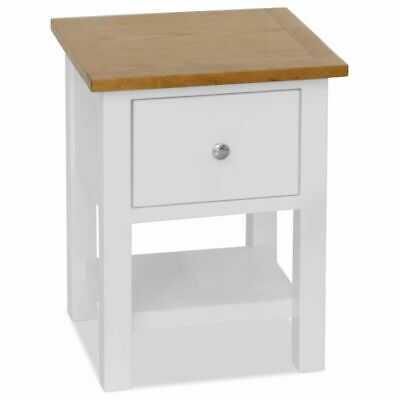 vidaXL Solid Oak Nightstand 36x30x47cm with Drawer and Shelf Bedside Table✓