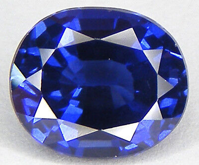 4,99CT. EXCELLENT SAPHIR BLEU CORINDON DE SYNTHESE T. OVALE 10,7x9,1 MM.