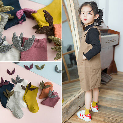 Cute Baby Kids Girl Soft Cotton Socks Children Toddler Ankle Socks With Wing