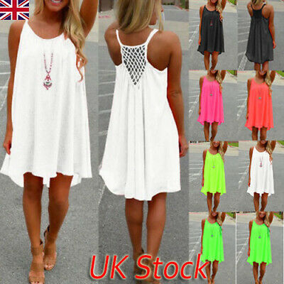 Women Beach Dress Bikini Cover Up Kaftan Holiday Sleeveless Long Long Tops Dress