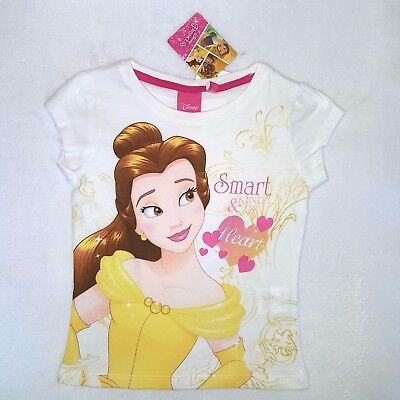 Disney T-shirt Belle Princesse 3 4 5 6 Ans La Belle Et La Bête Rose Neuf Other
