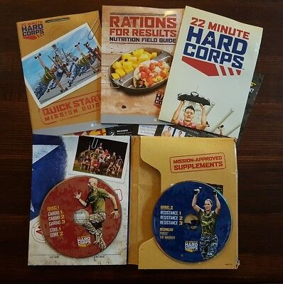 22 Minute Hard Corps 2 Disc DVD Set - Weight Fitness Workout - Free UK Delivery