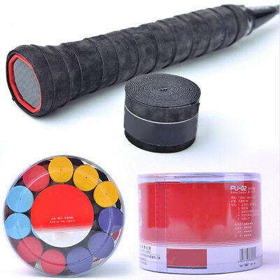 Absorb Sweat PU Racket Anti-slip Tape Handle Grip For Tennis Badminton Bands