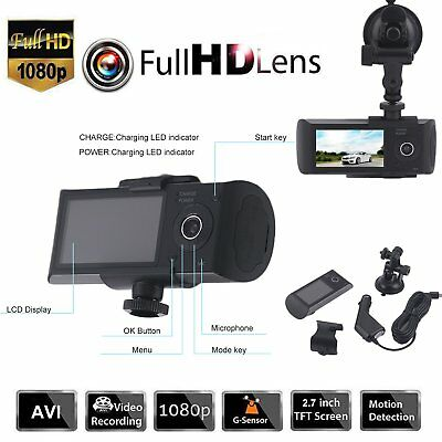 HD 1080P Dual Lens Auto DVR Rearview Camera Video Dashcam Recorder KFZ Kamera CI