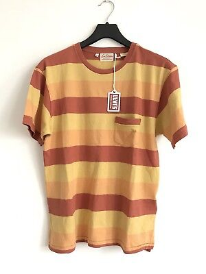 21ef4bd0 LEVI'S VINTAGE CLOTHING 1940s Split Him Stripe Orange Pocket T-Shirt Size M