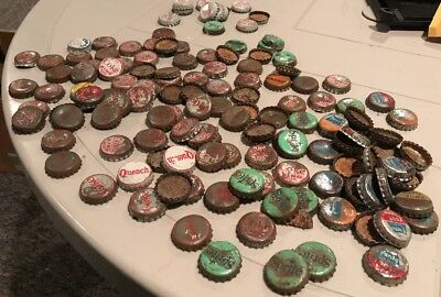 Vintage lot 100+ Cork Lined Bottle Caps; Coca Cola, Coke Sprite Fanta Quench
