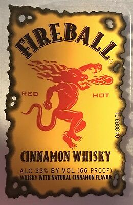 4 Fireball Whiskey Labels