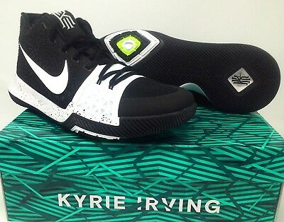 78ad46d048ce Nike Kyrie 3 TB Tuxedo Mens Size 10.5 Black White Basketball Shoes 917724  001