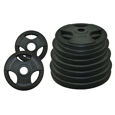 Total 60kg Olympic Rubber Coated Weight Plate Set - Commercial Grade Plate