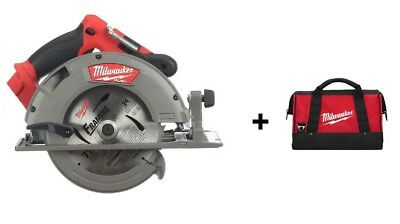"Milwaukee M18 FUEL 18V Brushless Li-Ion 7-1/4"" Circular Saw 2731-20 + Bag"