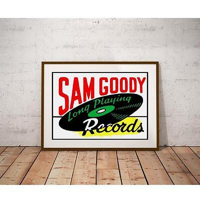 Sam Goody Record Shop Poster - New York City Record Retailer from the 1950's