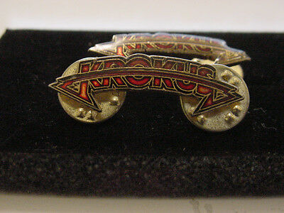 VINTAGE lot of 2 KROKUS lapel pin - ROCK BAND licensed 1981 HEAVY NETAL