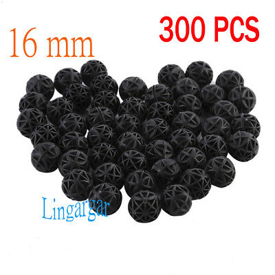 300Pcs Aquarium Bio Balls Sponge Filter Media Bag Wet/Dry Koi Fish Pond Reef HOT