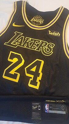 778040fc7 Kobe Bryant   24 Los Angeles Lakers Lore Series Nike Authentic Jersey Size  56