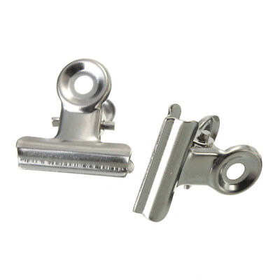 10pcs Mini Bulldog Stainless Steel Silver Metal Paper Letter Binder Clips Clamp