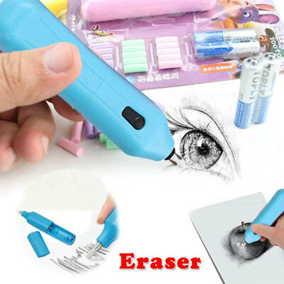 Electric Sketch Eraser Kit Portable Rubber Pencil Drawing Art Stationery