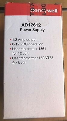Brand New Honeywell AD12612 1.2 AMP 6-12VDC Power Supply/Battery Charger