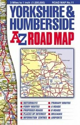 Yorkshire and Humberside Road Map (Road Maps) Sheet map, folded Book The Cheap