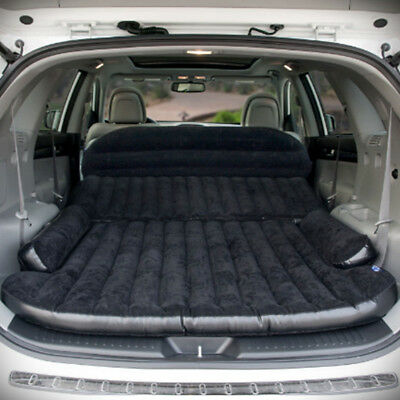 Inflatable Car Travel Mattress Air Bed Flocking Car Bed Chair For Travel Camping