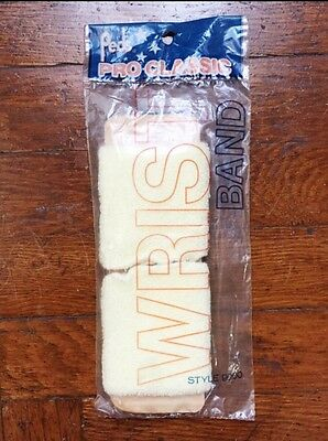 vintage terry cloth wristbands deadstock NIP 80s