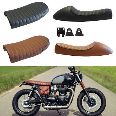 Vintage Cafe Racer FlatHump Saddle Seats For Honda CB Triumph Bonneville BMW GS