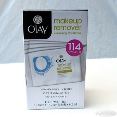 OLAY Makeup Remover Wet Cloths 4pks 25 cnt full sz & 2 7 cnt Travel 114 Seald Bx