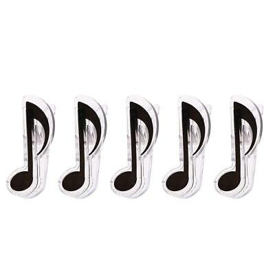 5 Pieces Music Note Page Treble Clef Clips Black Lovely Piano Clip Bookmarks