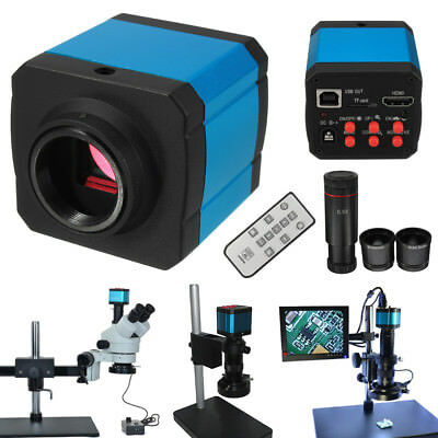 14MP 1080P Industry C-mount Digital Microscope Camera HDMI USB W/ Eyepiece Lens