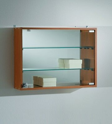 Wall Mounted Glass showcase display cabinets with mirror back and lockable