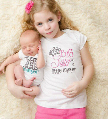 AUSTOCK Kids Baby Girl Little Brother Big Sister Matching Clothes Romper T-shirt