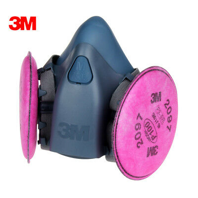 Free Shipping 3M 7502 Spray Paint /Dust Mask respirator+3M 2097 P100 Fliters