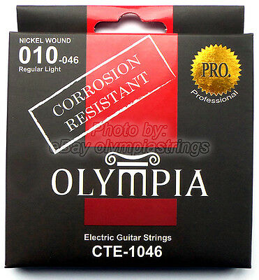 Olympia CTE-1046 Electric Guitar Strings Corrosion Resistant - Gauge 10 Regular