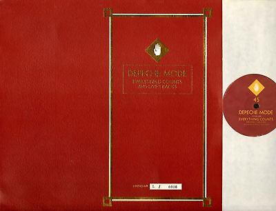 """DEPECHE MODE everything counts (numbered limited edition) 12"""" EX/EX L12 BONG 3"""
