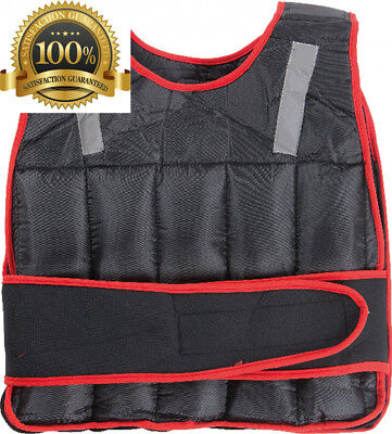 Adjustable Weighted Vest Comfortable Exercise Workout Fitness Black Red...
