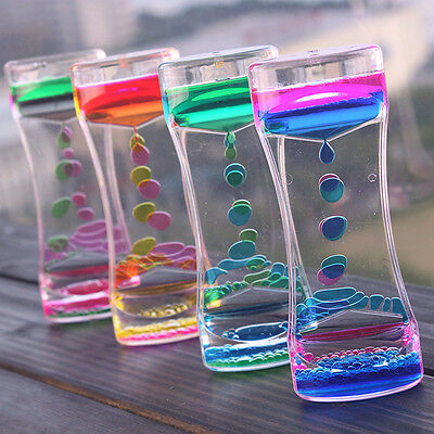 Floating Color Liquid Motion Timer Mix Illusion Oil Clock Visually Toy Decor US