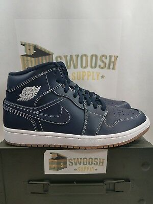 newest dffbe abcb7 NIKE AIR JORDAN 1 MID RE2PECT Jeter OBSIDIAN WHITE GUM SIZE MEN S 8.5 AH6342  402