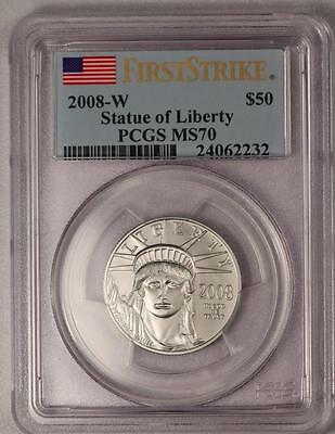 2008-W $50 Platinum American Eagle PCGS MS70 First Strike (Super Low Mintage)