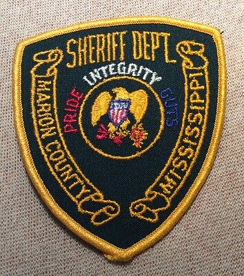 MS Marion County Mississippi Sheriff Patch
