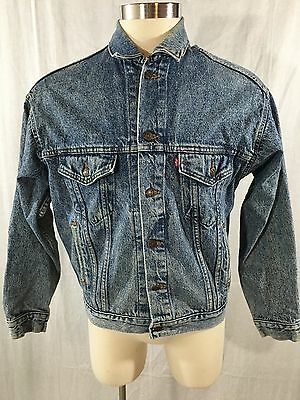 Vintage Levis Denim Jean Jacket Large 70507 4813 Trucker Red Tab Made in USA