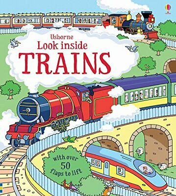 Look Inside Trains (Look Inside Board Books) by Alex Frith Book The Cheap Fast
