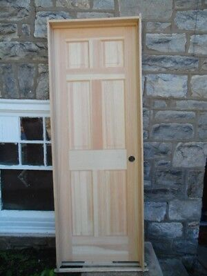 "28"" X 80"" Solid Pine Interior Door Six Panel Pre Hung LOCAL PICK UP ONLY NEW"